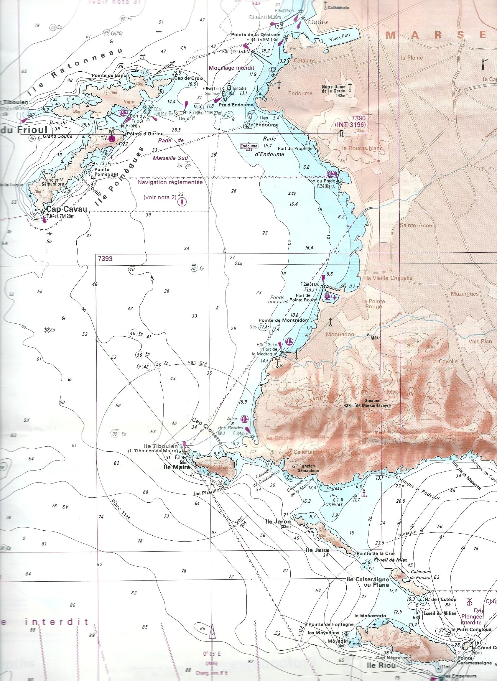 La Flâneuse navigue principalement dans la rade de Marseille