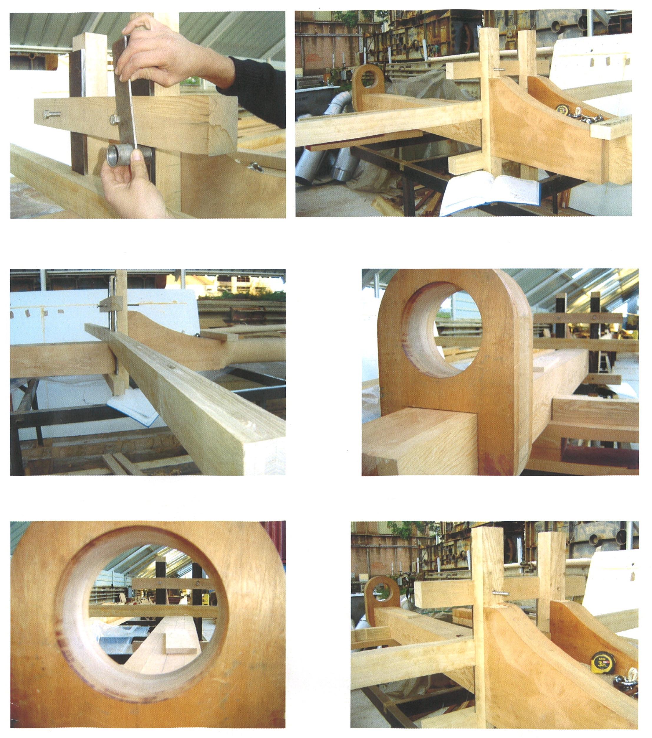 La fabrication du mât de La Flâneuse