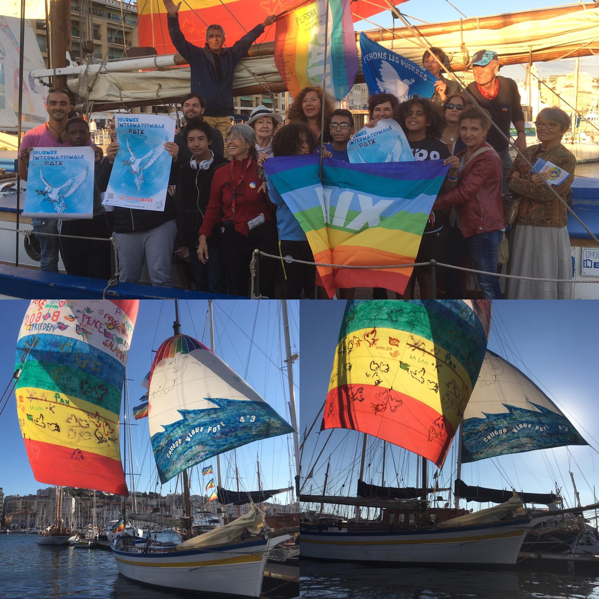 La Flâneuse participe aux Voiles de la Paix au Vieux-Port le 25 sept 2016